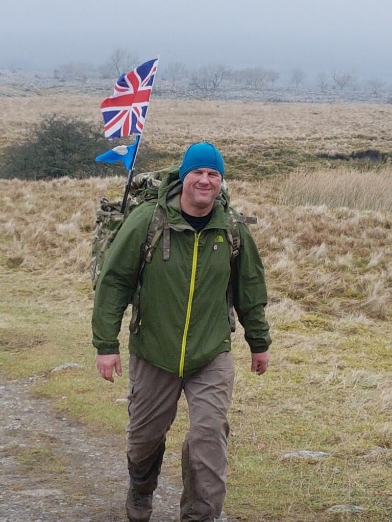 Yorkshire Three Peaks loaded march to help war veteran walk again