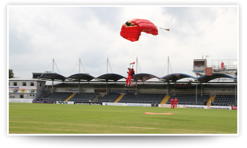 The Red Devils display