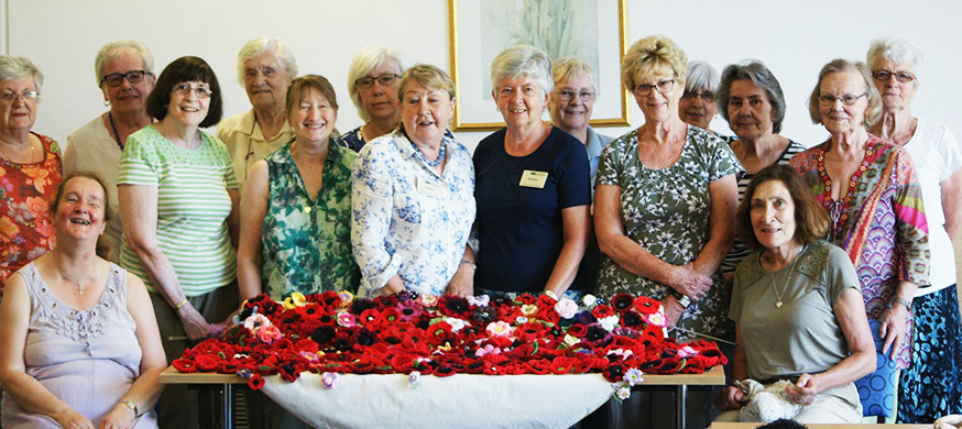 Poppy fundraisers for Woundcare4Heroes